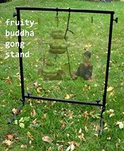 Fruity budha gong stand